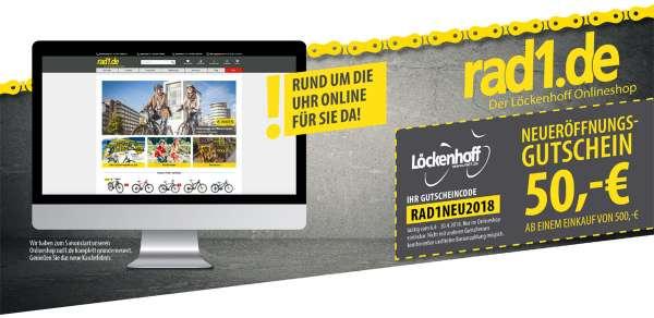 """""""Alt gegen Neu-Gutscheincode """"RAD12018AGN"""""""